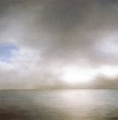 Painting by Gerhard Richter 'Seascape/Seestuck (slightly cloudy)' 1969 Oil on canvas | par Plum leaves