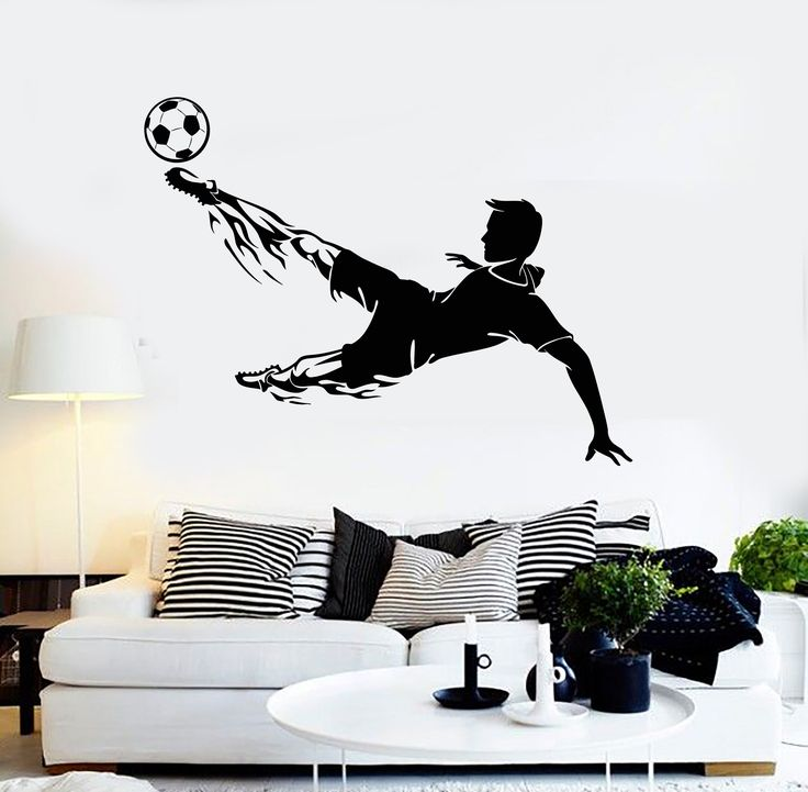 Vinyl Wall Decal Soccer Player Sports Room Decoration Stickers Mural (ig4407)