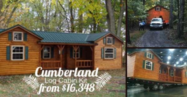 Cumberland Log Cabin Kit from $16,348