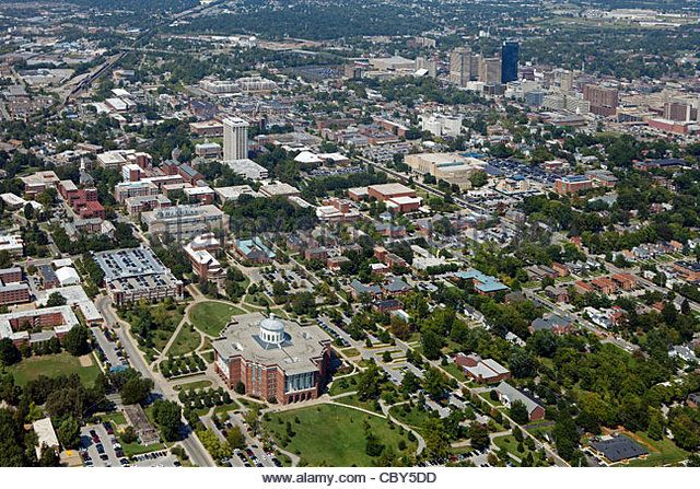 aerial view lexington, ky | aerial photograph, University of Kentucky, Lexington, Kentucky - Stock ...