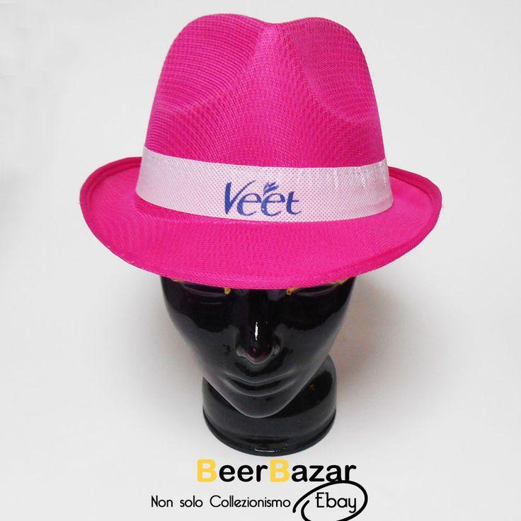 € 4,99 Cappello Panama rosa fuxia fashion donna Veet tesa larga nido d'ape 58 L party