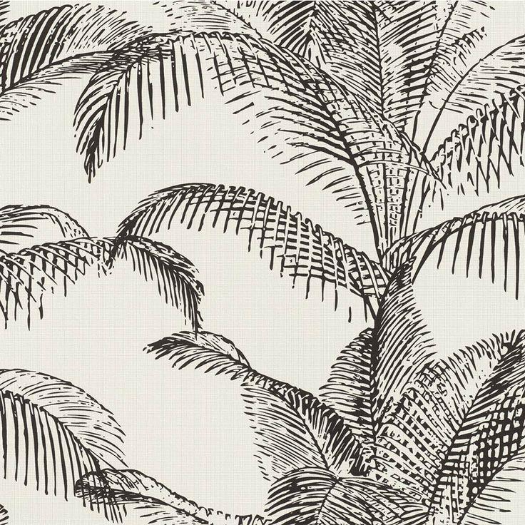 Rasch Sansa Wallpapers In 2020 Palm Leaf Wallpaper Leaf Wallpaper Feature Wallpaper