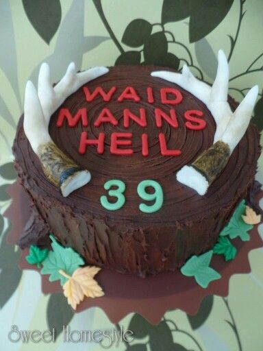 Jäger Torte - Hunting Birthday Cake