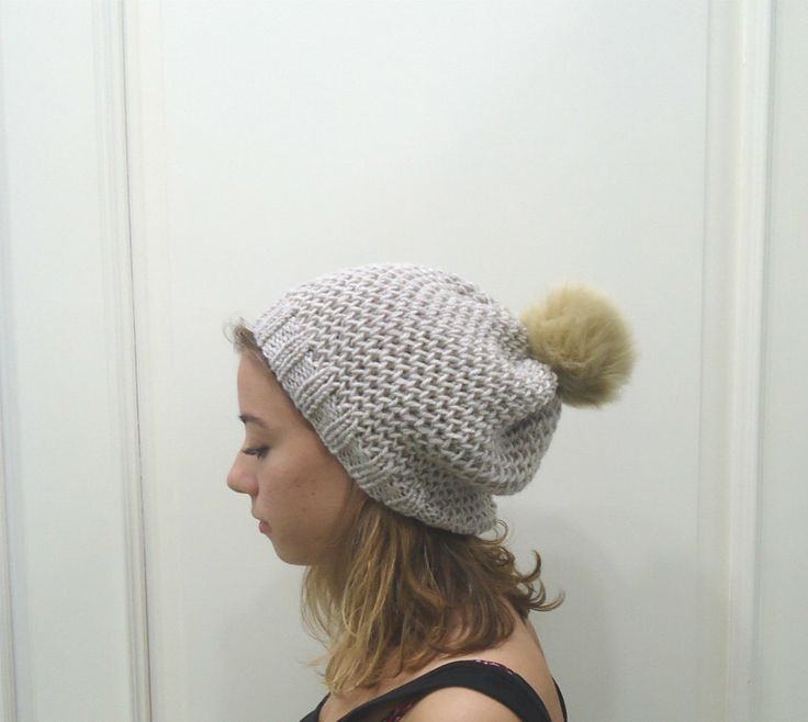 A personal favourite from my Etsy shop https://www.etsy.com/listing/253576530/hand-knitted-beige-slouchy-beanie-hat
