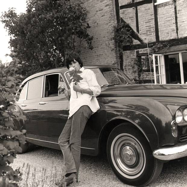Keith Richards with his Bentley S3 Continental Blue Lena by Gered Mankowitz - Redlands, West Sussex 1966