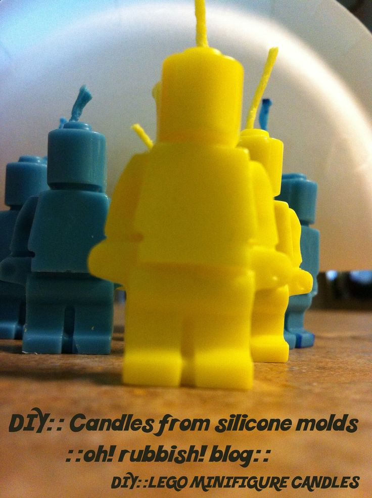 DIY :: Lego Minifigure Candles :: Candles from Silicone Molds:: oh! rubbish! blog