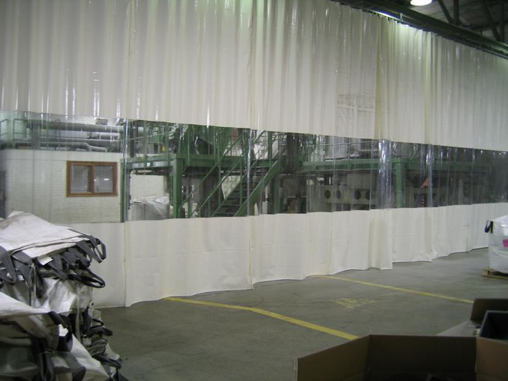 Industrial Curtain White
