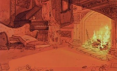 101 Dalmatians background: fireplace 1961 ☆ || CHARACTER DESIGN ...
