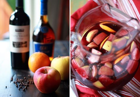 Classic Red Sangria Recipe - A simple (but potent!) red wine sangria with apples, oranges, allspice, and brandy.