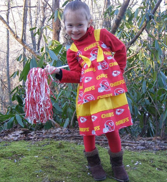Kansas City Chiefs Football Dress Toddler by SwannontheFarm
