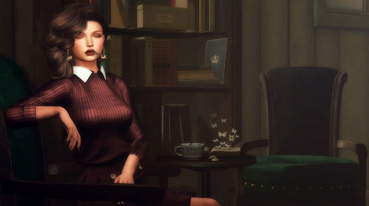 Second Life Snapshots: It was professor plum in the Library with the cand...