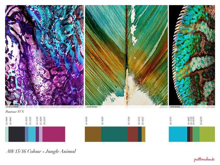 Jungle Animal - colour Autumn/Winter 2015/16 Print Trend Report Part 1 + Patternbank Textile Design Studio Version trend forecasts
