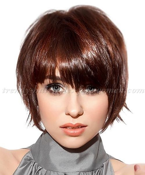 Enjoyable 1000 Ideas About Layered Bob With Bangs On Pinterest Layered Hairstyle Inspiration Daily Dogsangcom