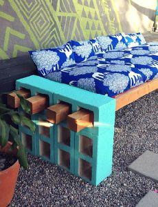 Móveis lindos feitos com blocos de concreto para a sua casa. Eu particularmente amei e irei fazer no me terraço