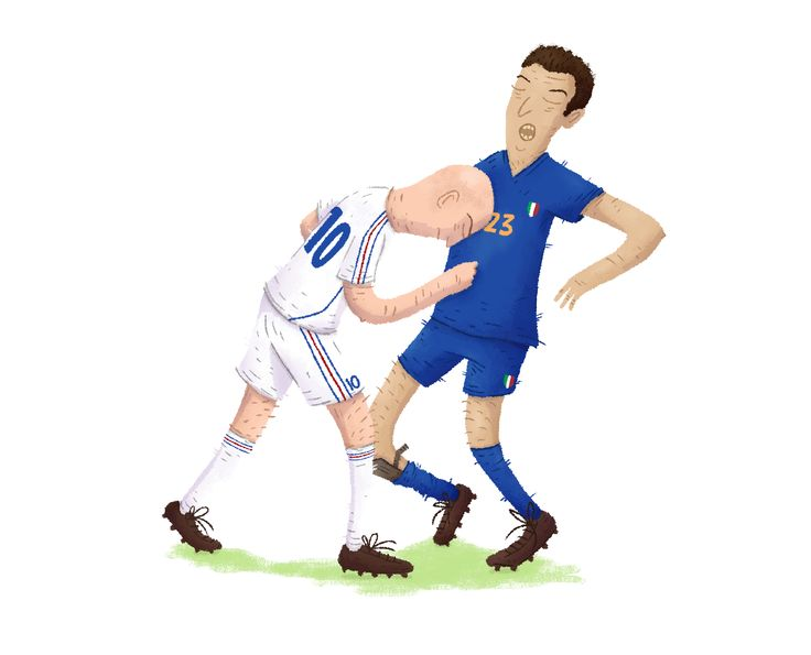 Zidane, France + Materazzi, Italie #THEBIGFOOT #FOOT #FIFA #PES #PS4 #XBOX #JEUX #JEUXVIDEO #SOCCER #REAL #INTER #ITALIE #FRANCE #DESSIN #ILLUSTRATION