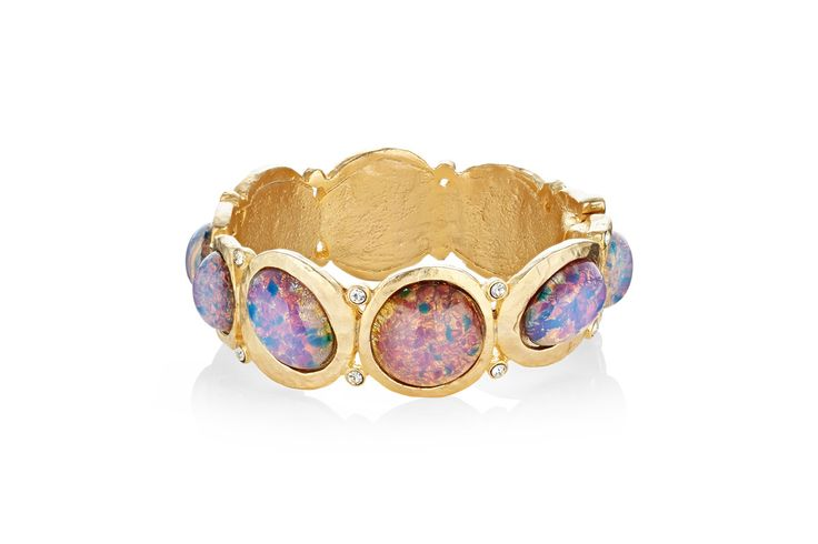 Kenneth Jay Lane Pink Opal Bracelet ($278) // Shop the rest of the retro-chic collection at #FASHIONxHudsonsBay