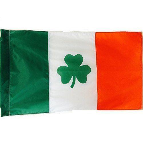 St Patricks Day Irish Flag Shamrock Leaf Clover Double Sided 3x5 Ft Brand NEW #StPatricksDay