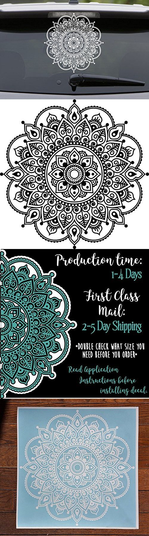 Car sticker family maker - Mandala Decal Flower Decal Car Decal Lacey Laptop Sticker Mandala Car Decal Floral Hippie Seed Of