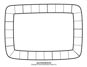 Blank Game Board Template. @traceykran there is a coloured one with three different colours that could correspond with the different activities we wanted to do in the pictionary game?