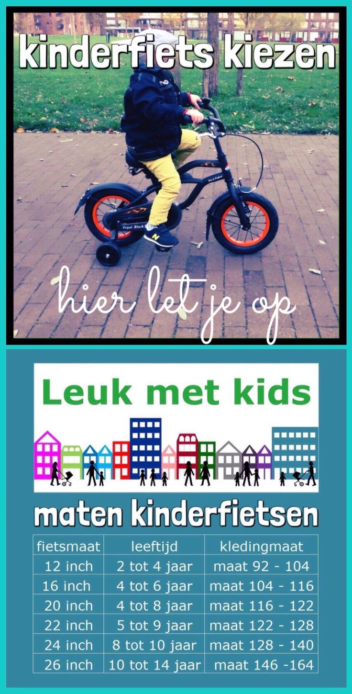 ★ Kinderfiets kiezen: hier let je op ★ met de maten voor kinderfietsen #peuter #kleuter #schoolkind #tiener #kinderen #kinderfiets #leukmetkids