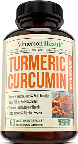 Vimerson Health Turmeric Curcumin with Bioperine Anti-Inflammatory, Antioxidant & Anti-Aging Supplement with 5mg of Black Pepper for Better Absorption. All Natural & Non-Gmo Joint Pain Relief