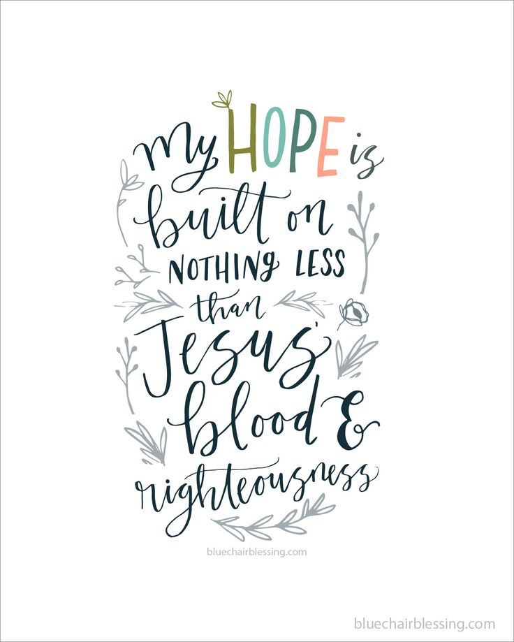 Hymn hand lettered Scripture art @bluechairblessing www.bluechairblessing.com