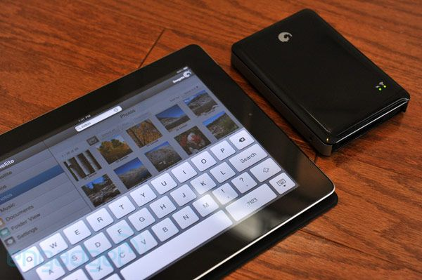 Want! Portable HDD that connects with your iPad or iPhone. $200