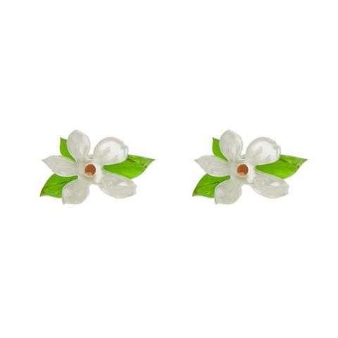 """Erstwilder Collectable Mississippian Pins Earrings. """"The 'little gem' of the Southern States. A flower as beautiful as steel is strong. And one of the first to strut it's stuff every Spring."""""""