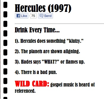 Hercules drinking game: Drinking Games, Drinks Games, Liven Things, Parties, Hercules Drinks, Adult Beverages, Hakuna Matata 3, Games Time, Drunken Shenanigans