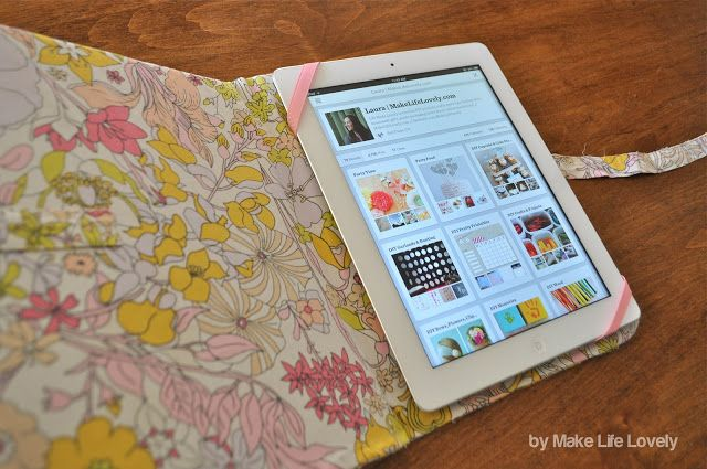 DIY iPad Case Tutorial (Made For Free Using Recycled & Upcyled Materials!) - Make Life Lovely