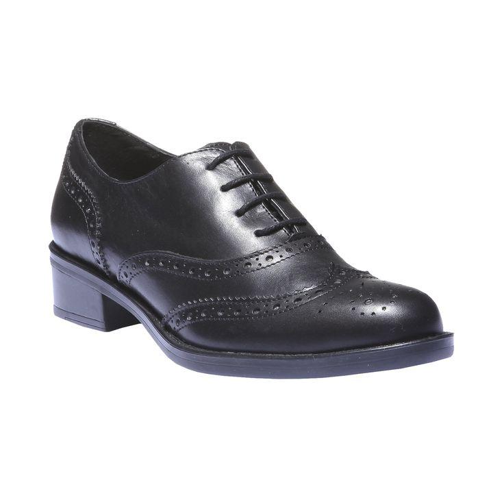 Stylové kožené dámské polobotky ve střihu inspirovaném klasickou pánskou obuví v Oxford střihu. Design v podzimních barvách s klasickým zdobením Brogue.