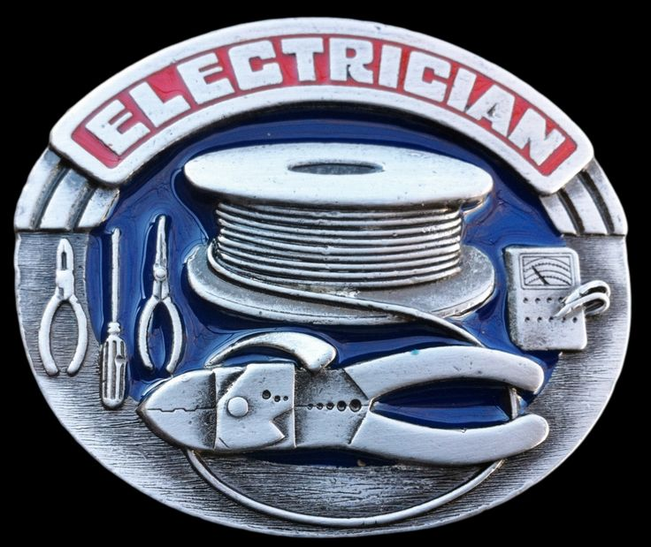 Electrician Worker Tools Electricity Belt Buckle PRICE $15.99