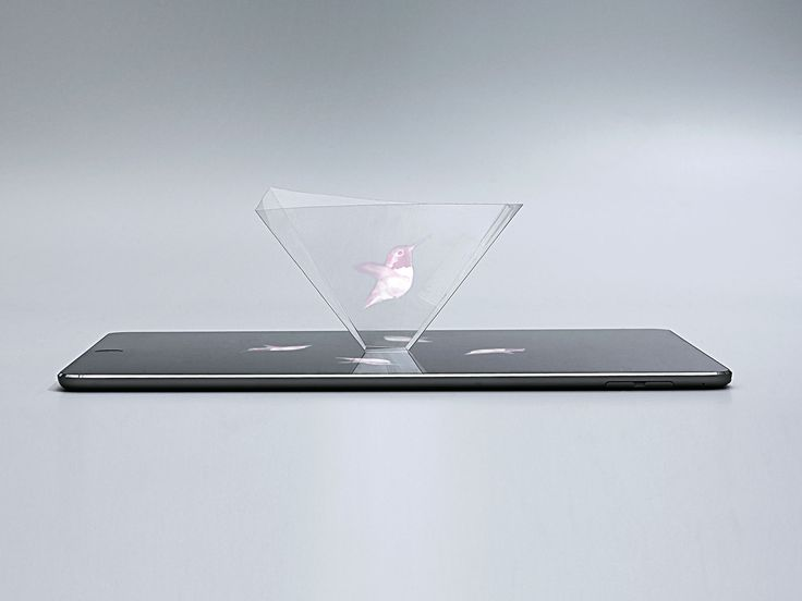 Make a DIY hologram with your smartphone and some transparency paper.