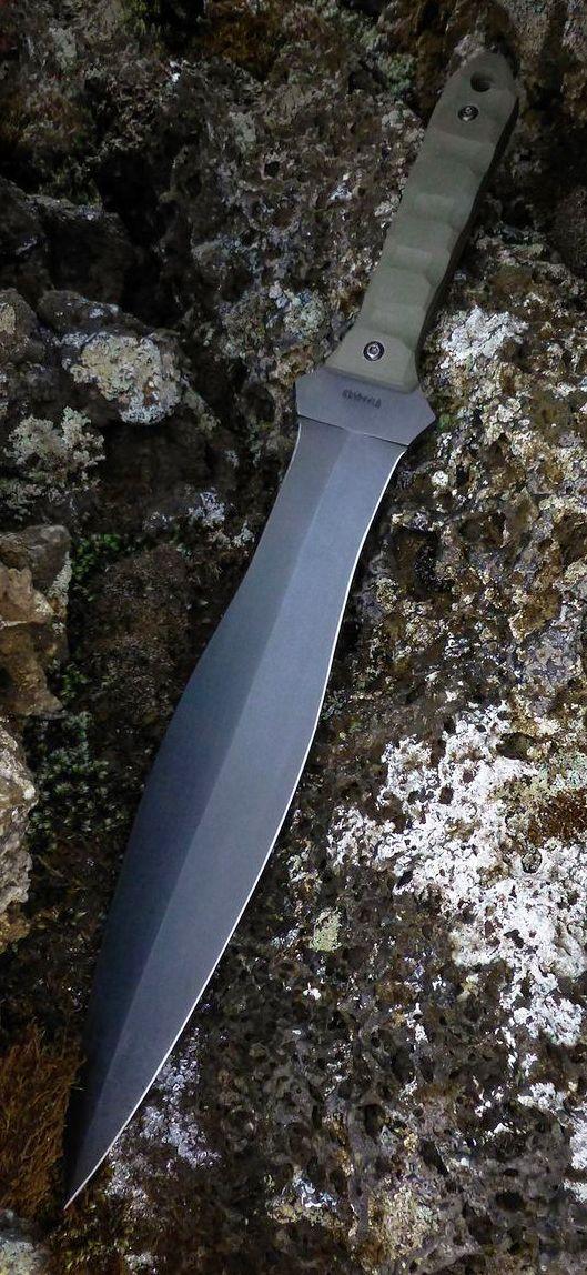Custom Combat Fixed Blade Knife Based On Spartan Ksifos @aegisgears #blade