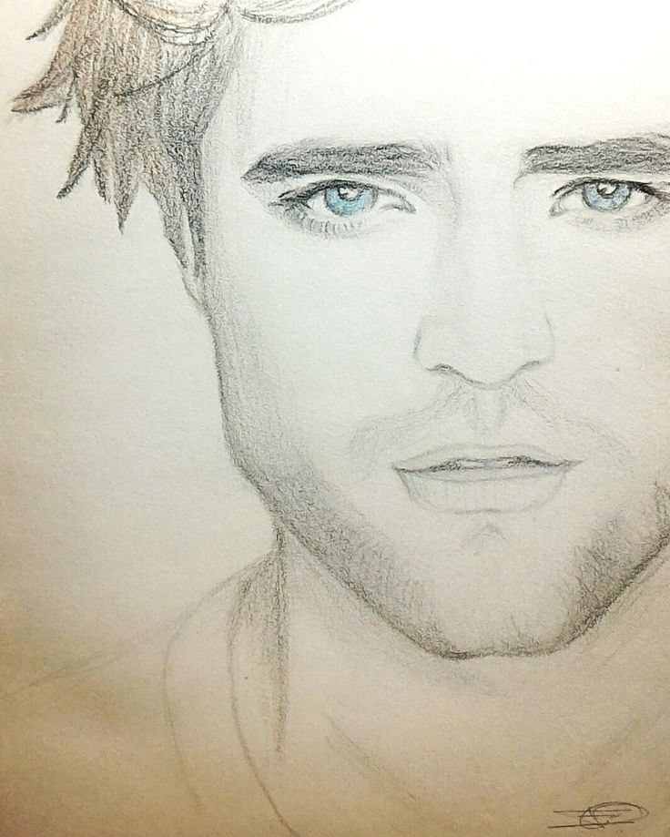 """""""Robert Pattinson attempt""""  Pencil sketch by yours truly..."""