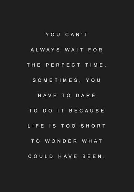Don't wait for the perfect time. Have the will and dare todo it now #Entrepreneur http://www.dufferinmedia.com/