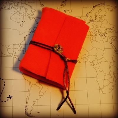 mini felt notebook