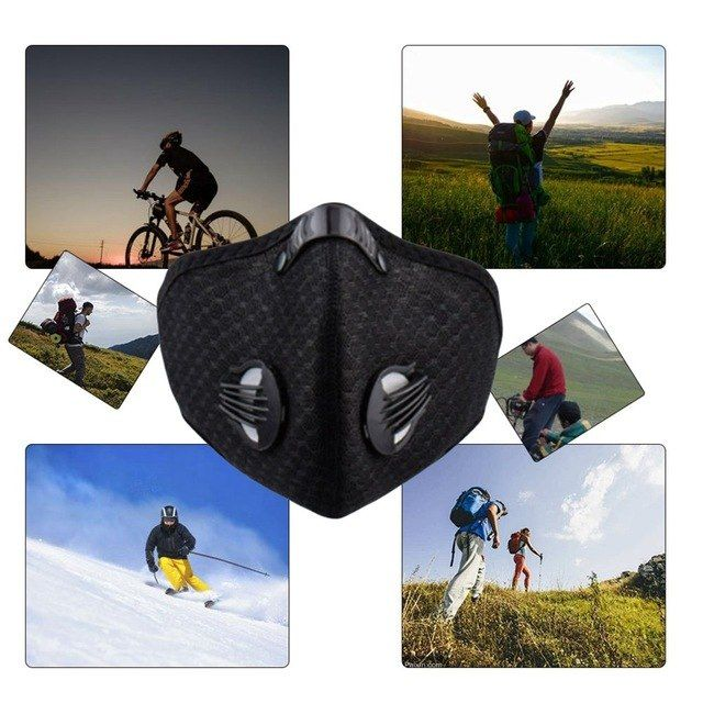 Men Women Activated Carbon Dust Proof Cycling Face Mask Anti