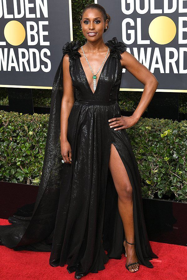 Best Dressed at the Golden Globes 2018: All the Stars in Black - Issa Rae in Prabal Gurung