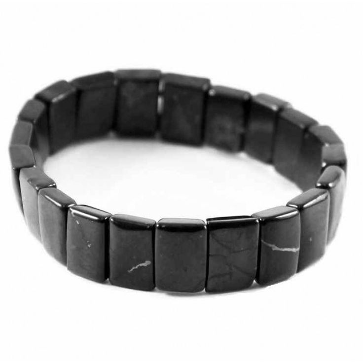 Shungite bracelets with smal rectangular beads for comprehensive personal protection and healing $29.90