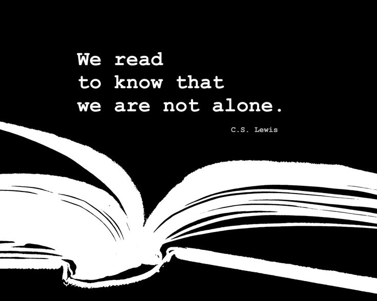 Reading Quote Book print black and white by theartofobservation