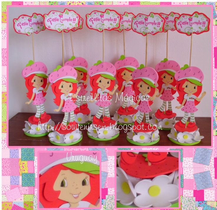 Strawberry Shortcake Cake Topper Nz