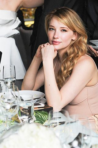 Haley Bennett, in Louis Vuitton.