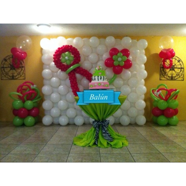 Baby shower decoration balloon decorations pinterest for Baby shower balloons decoration