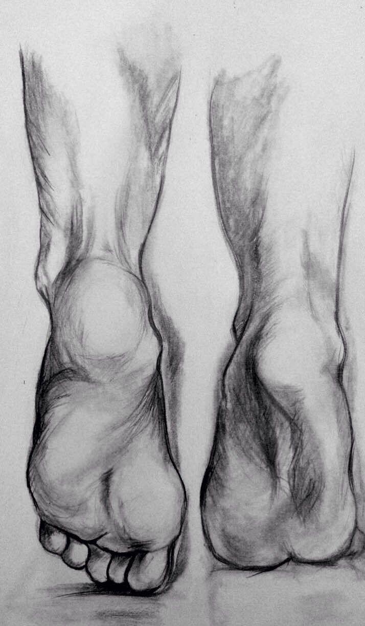 Füße ziehen Holzkohle – Illustration