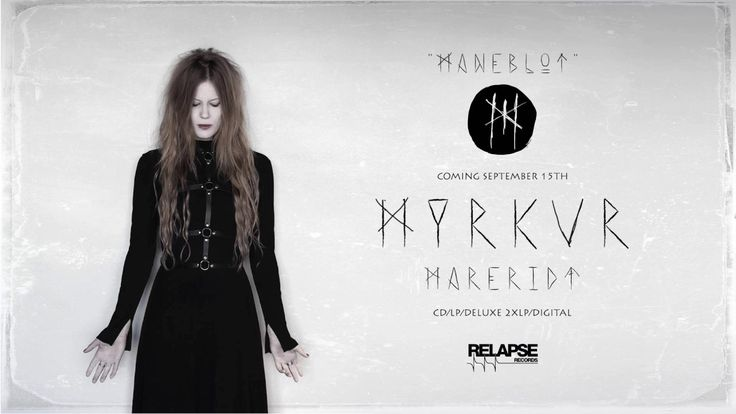 """MYRKUR - Måneblôt (Official Audio) (Pagan Black Metal from Denmark) norse word means something like """"bloodmoon"""" or """"red moon"""" in English, from their soon upcoming album """"Marerid"""" a danish word for """"Nightmare"""""""