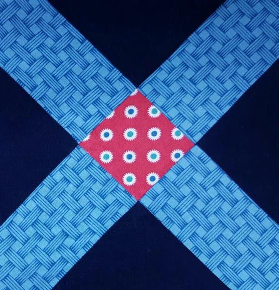 Yankee Diary Block 3: Double Ties   by Denniele Bohannon       Detail of an album quilt made to celebrate   Mary Fields Fisk's marriag...