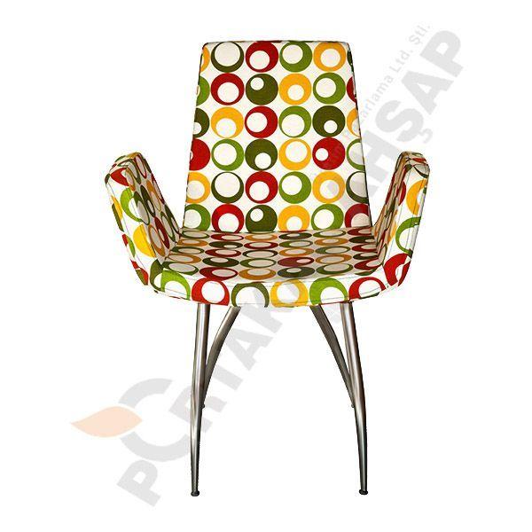 Metal Sandalye Kırlangıç - Portakal Ahşap