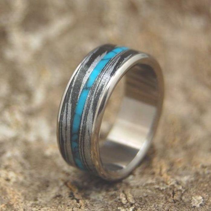 Titanium Rings This Black Wedding Ring Is Both Stunning And Unique A Perfect Titanium Mens Ri Black Wedding Rings Turquoise Wedding Rings Mens Wedding Rings