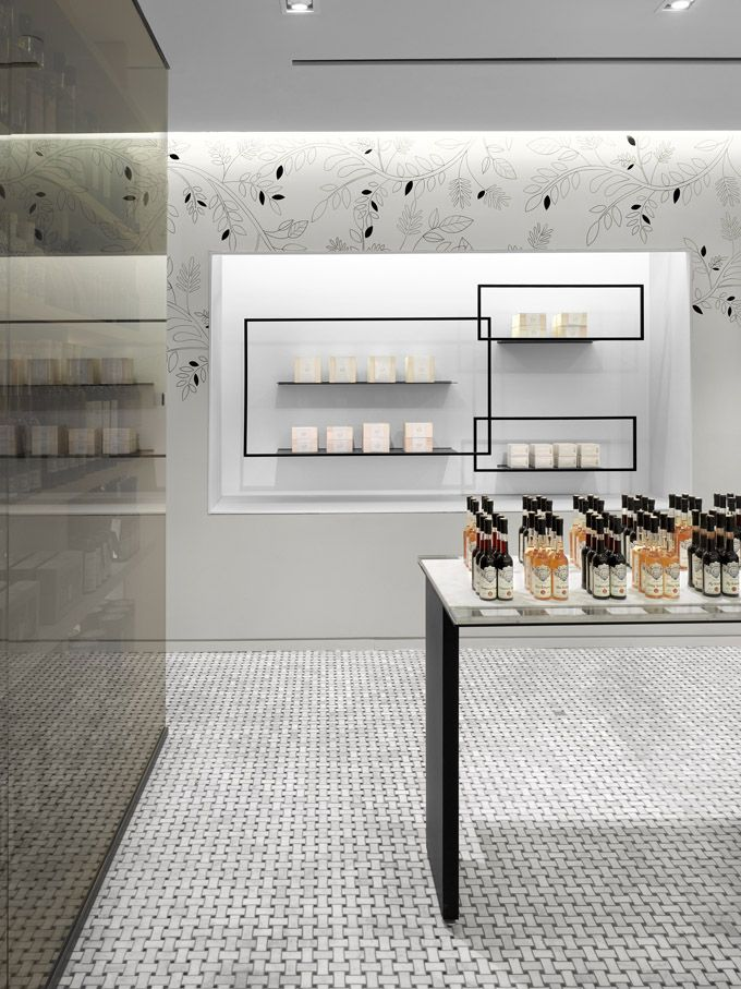 Lovely bottles in this olive oil store- Ta-Ze. Very classical feeling with the tile flooring